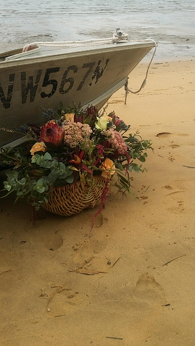 Boat and Flowers on Dangar Island
