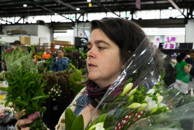 Choosing Flowers at Sydney Market