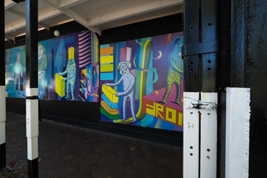 Sydney Street Art in the form of decorative building hoardings