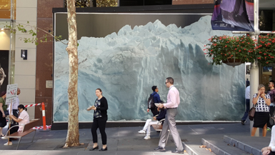 A Glacier forms Urban Art in Sydney