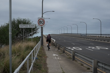 Cycle path on Captain Cook Bridge