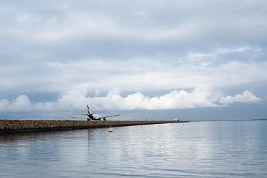 Qantas taxiing to the runway