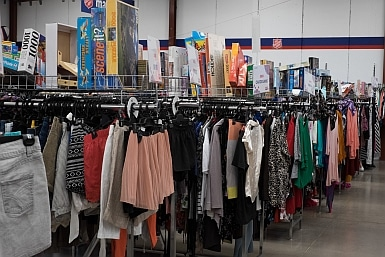 Clothes at Tempe Salvos