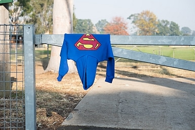 Superman was here