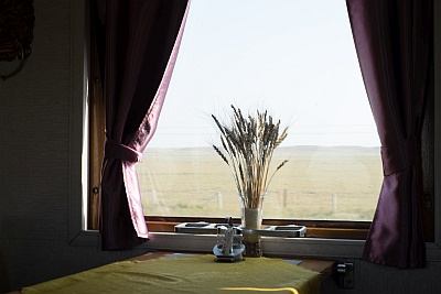 Mongolian Train Dining Car