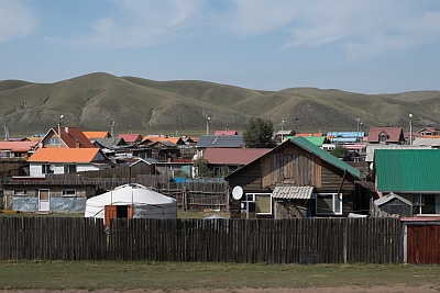 Mongolian Villages of houses and gers