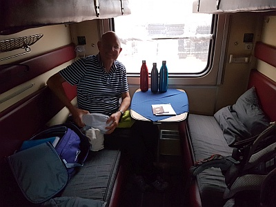 The Trans-Mongolian train compartment Second Class