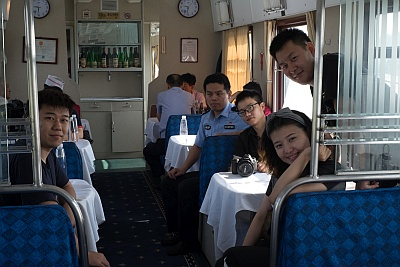 Chinese Dining Car on Trans Mongolian Railway
