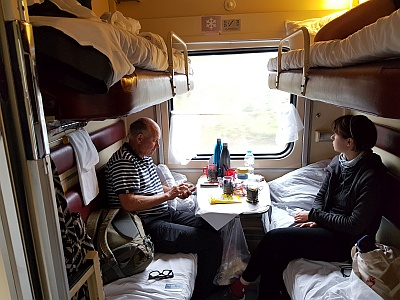 Settled in on the Trans Siberian Railway