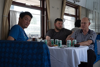 Local Beer in the Dining Car on the Trans Mongolian