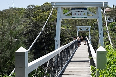 Suspension Bridge at Parsley Bay