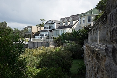 Mansions overlooking Sydney Harbour