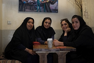 Iranian Women Having Coffee