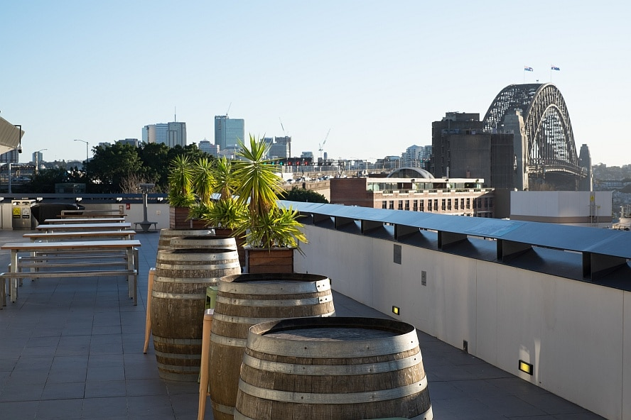 From the rooftop of the Sydney Harbour YHA