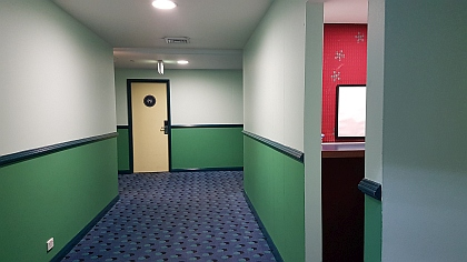 Refurbished interior of Central Sydney YHA